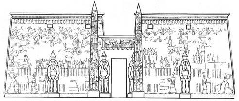 Храм Амона в Луксоре.
