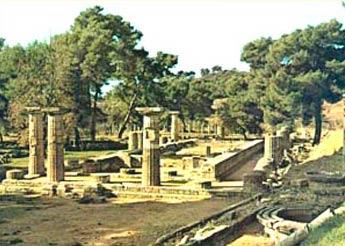 Карта Древней Греции Олимпия