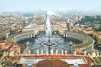 Площадь перед собором Св. Петра в Риме - www.Arhitekto.ru