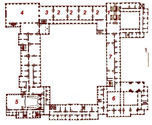 этажа Зимнего дворца.