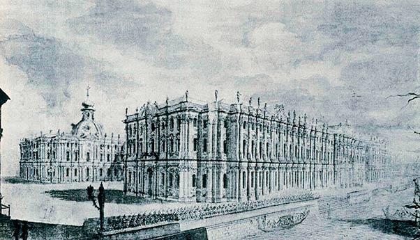 Вид Зимнего дворца с